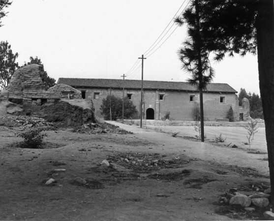 The ruins of one of the San Fernando Mission's buildings