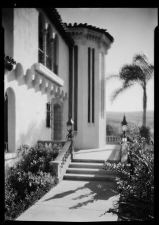 Mr. Reid's residence for Xmas card, Southern California, 1930