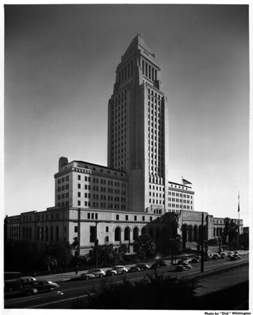 City Hall in the Civic Center of Downtown Los Angeles
