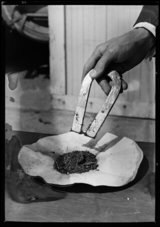 Magnet and dirt from Pan American Guam, Southern California, 1927