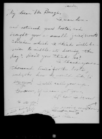 Letter, Mr. Mart Coles, Southern California, 1927