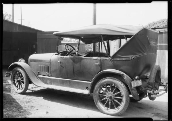 Studebaker claim #L40439, Southern California, 1926