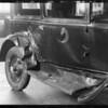 Wrecked Chevrolet coach belonging to Tony Haun, LA Motor Services, 2524 South Hill Street, Los Angeles, CA, 1930