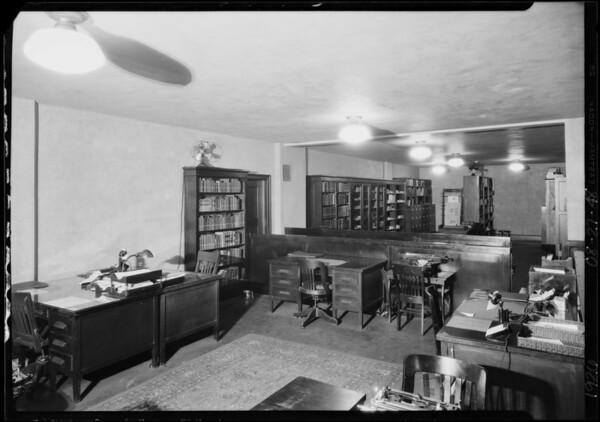 Research department, Pacific Southwest Bank, West 6th Street & South Spring Street, Los Angeles, CA, 1926
