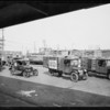 Maytag trucks at U.P. yards, Southern California, 1926