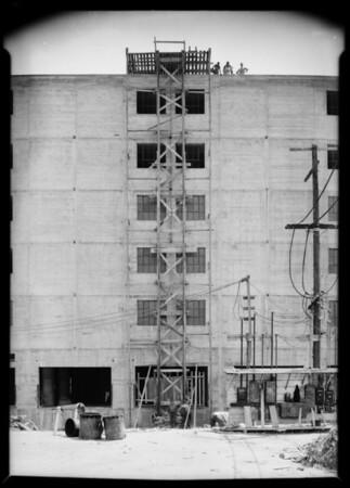 Warehouse elevator shaft, 9th and Alameda, Southern California, 1931