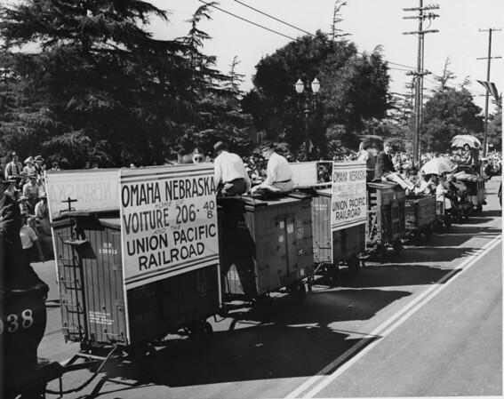 Omaha, Nebraska & Union Pacific Railroad float in the American Legion Parade