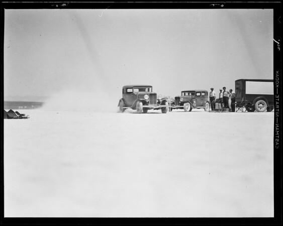 Auburn run at dry lake, Southern California, 1932