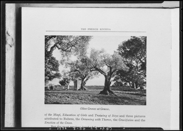 """Copies for Mr. Miller for Realty Digest taken from """"Picturesque Spain"""", French Riviera, Los Angeles Library, Southern California, 1926"""