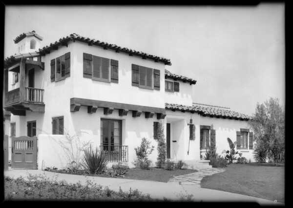 Shots for Mr. Miller at Realty Digest, Southern California, 1926