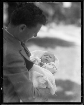 Eleanor, 1 month and 4 days old, one in carriage - 10 weeks, Southern California, 1931