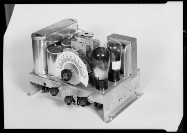 Chassis and small cabinet Falck radio, Southern California, 1930
