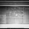 April blackboard, W. Ross Campbell, Southern California, 1927