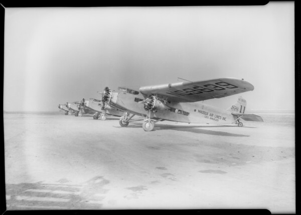 Photos of fleet for composites, Southern California, 1929