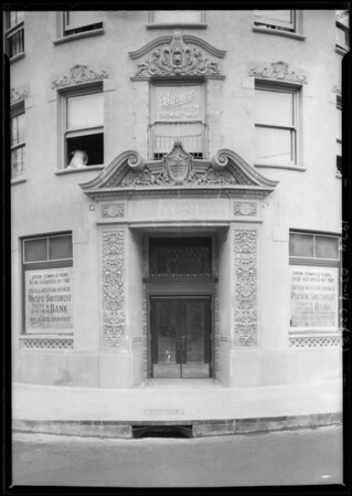 Exteriors of West 6th Street & South Western Avenue branch, Pacific-Southwest Trust and Savings Bank, Los Angeles, CA, 1926