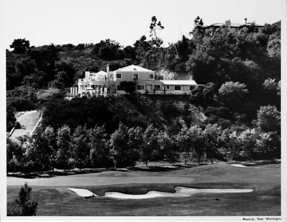 Upscale residential home, view of golf course