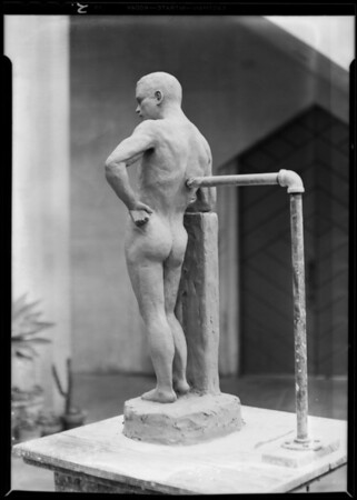 Clay model, Chouinard School, Los Angeles, CA, 1930