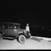 Chevy at night from Hollywood Hills, Los Angeles, CA, 1926