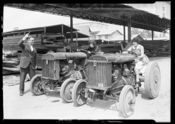Ford tractors, Southern California, 1927