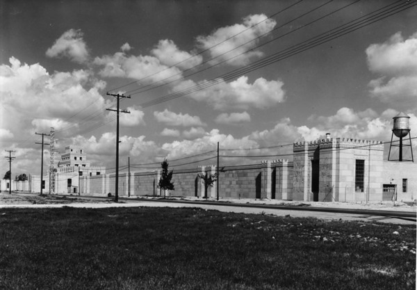 Photo of the Citadel Building, formarly a county prison, now the home of the U.S. Rubber Company