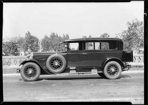 Mercedes car, Southern California, 1929