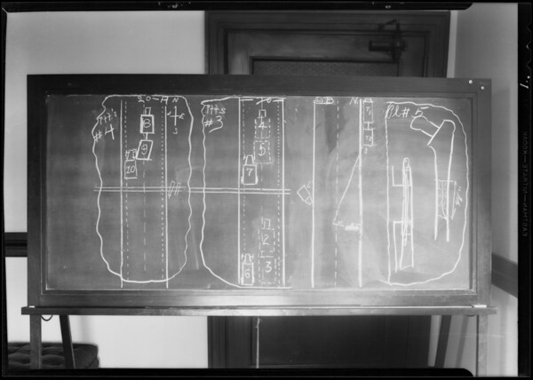 Blackboards, Superior Court #11, Southern California, 1931