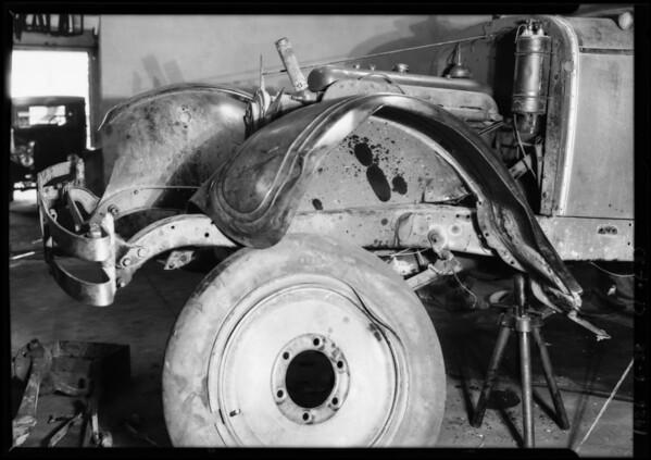 Wrecked car of C.E. Wilson, Southern California, 1926