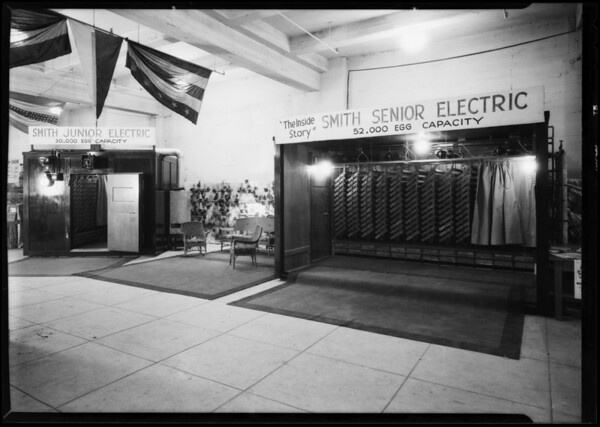 Smith Incubator booth, Southern California, 1930
