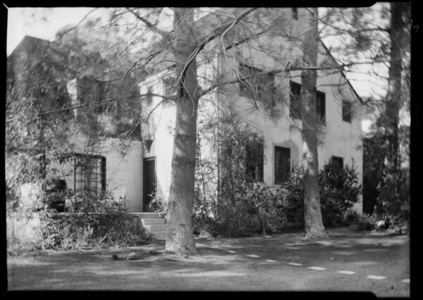 Interior and exterior of 1938 North Hobart Boulevard, Los Angeles, CA, 1930