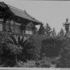 A view of the Japanese Gardens at Franklin Park in Hollywood, showing a building and lanterns