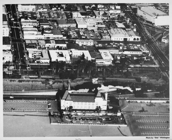 Aerial view of Santa Monica facing east