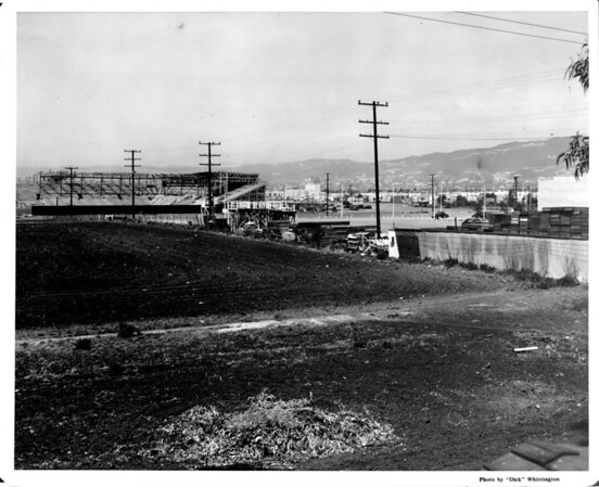 Gilmore Field, home of the Hollywood Stars, under construction