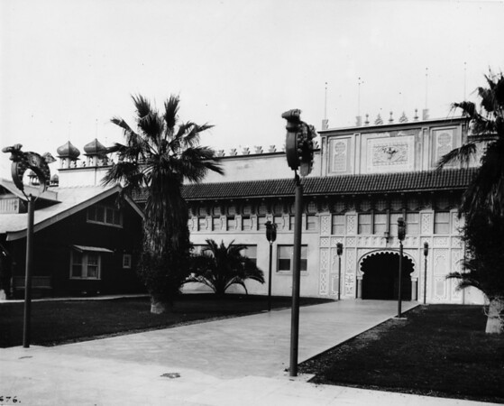 Al Malaikah Temple, the first Shriners Temple, Jefferson Boulevard and Royal Street, built 1905, destroyed by fire in 1919