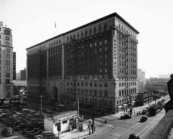 Barker Brothers Department Store located in Downtown Los Angels on the corner of 7th Street and Figueroa Street