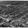 Aerial view facing north over Santa Monica at Wilshire Boulevard and Berkeley Street