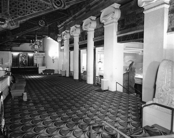 Inside lobby of the Paramount Theatre in Downtown Los Angeles on Sixth Street