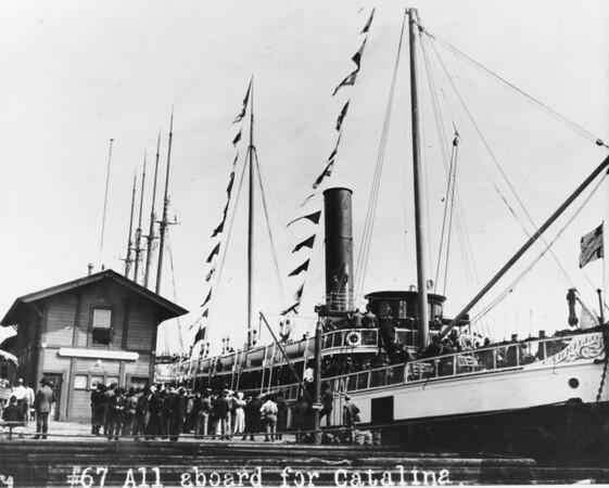 Shriner's boarding ferry to Santa Catalina Island