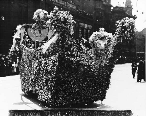 Rose Parade -- Shriner's float at the Pasadena Rose Parade