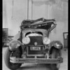 Wrecked Cadillac, McNealy Auto Works, Southern California, 1927