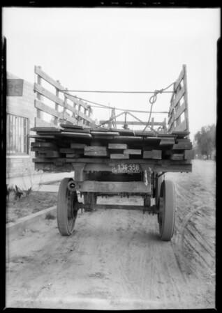 Job at Chino, truck & trailer, Chino, CA, 1927