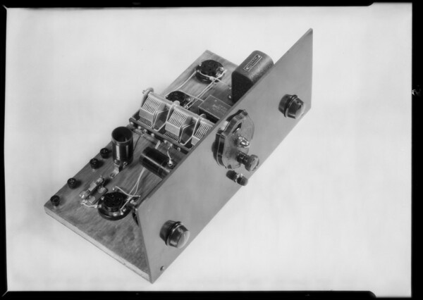Retake on radio panel, National Automotive School, Southern California, 1930