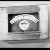 Rate of flow meter, Southern California, 1930