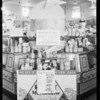 Cheese display in market, Whittier Boulevard, Southern California, 1932