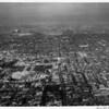 Aerial view looking towards East Los Angeles