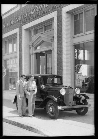 Ford at Nadeau's with Eddie Pullen, Southern California, 1932