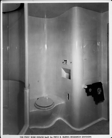 Post war house built by Fritz B. Burns Research Division, home interior of 1948, bathroom
