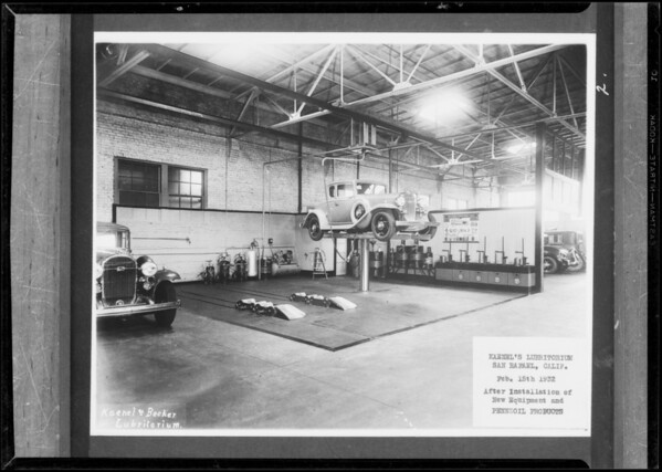 Lubricating departments, Southern California, 1932