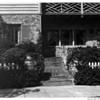 Residential home in 1948, flowers, garden