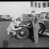 Ken Murray & tires, Southern California, 1932
