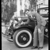 Abe Lyman and tires, Southern California, 1930